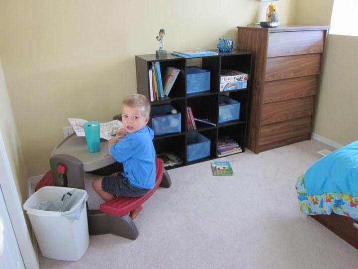 Brayden's new room setup